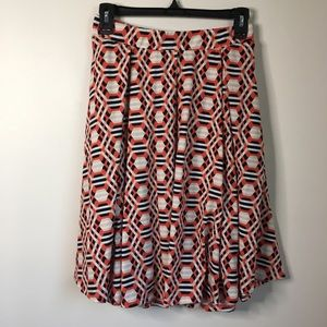 Lularoe geographic print skirt with 2 pockets